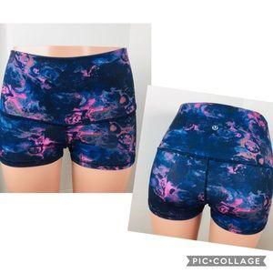 Lululemon Floral Moodie Mirage Boogie Shorts